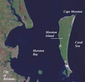 Moreton Bay - Some features in north of the bay