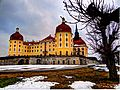 Moritzburg, Nordwest Fassade, in der Mitte der Backturm mit der Bäckerei **HDRI** (8627442236).jpg