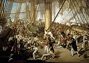Nelson is shot on the quarterdeck of Victory