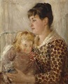 Mother and Child. The Wife and Daughter of the Artist Allan Österlind (Ernst Josephson) - Nationalmuseum - 18999.tif