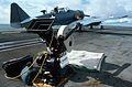 Motion picture camera on USS Lexington (CVT-16) in 1987.jpg