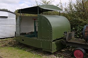 Motor Rail - Image: Motor Rail Simplex Armoured Diesel Engine 2ft Gauge. Irchester Narrow Gauge Railway Museum Flickr mick Lumix