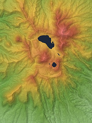Mount Akagi - Image: Mount Akagi Mountaintop Relief Map, SRTM 1, Unmarked