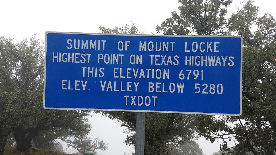 Mount Locke Texas Highways