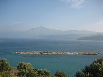 Mycale - Mount Mycale seen from the island of Samos, across the Mycale Strait.