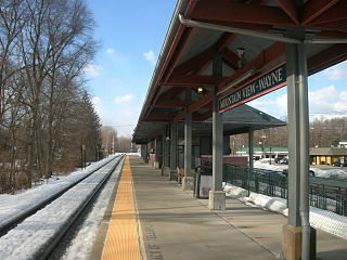 Mountain View station railway station in New Jersey, USA