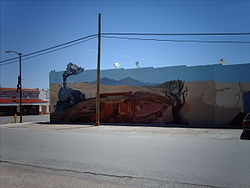 Mural in downtown Mountainair
