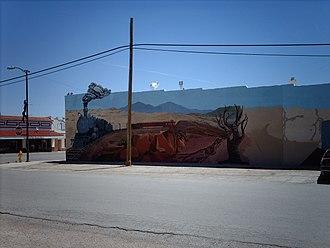Mountainair, New Mexico - Mural in downtown Mountainair