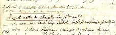 Mozart Unterschrift