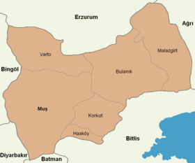 Muş location districts.png