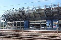Murrayfield Stadium from the railway (geograph 4102217).jpg
