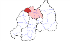Shown within Northern Province and Rwanda