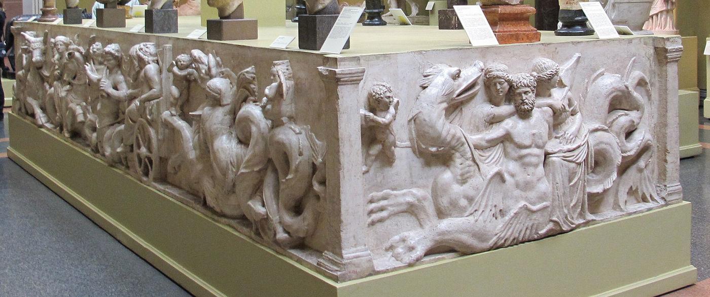 base du groupe statuaire de Domitius Ahenobarbus