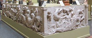 Altar of Domitius Ahenobarbus - Cast of the mythological panels, Pushkin Museum.