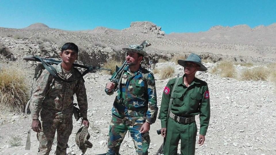 Myanmar Army personal undergoing training in Pakistan together with Pak Soldiers and Marines
