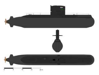 Swedish Näcken-class submarine