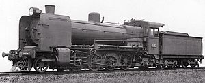 Victorian Railways N class - N 110, in an official VR photograph c.1936, shows a dramatically altered appearance after being equipped with Modified Front End and booster engine.