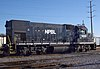NPBL #1435 is an EMD GP15-1 owned by the Norfolk Southern Railway