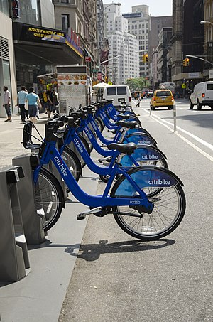 Cycling in New York City - Citi Bike bike share service, which started in May 2013