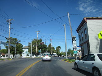 New York State Route 12E - NY 12E at NY 12, its northern terminus, in Clayton