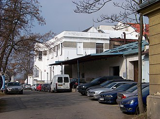 Randy Blythe manslaughter case - Street Na Košince in front of club Abaton (the white building in the back)