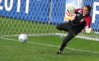 Germany women's national football team - Nadine Angerer saved a penalty in the 2007 Women's World Cup final.