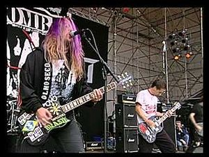 Nailbomb - Max Cavalera (left) and Alex Newport (right) at the Dynamo Open Air in June 1995