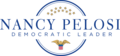 Nancy Pelosi Democratic Leader Logo-white.png