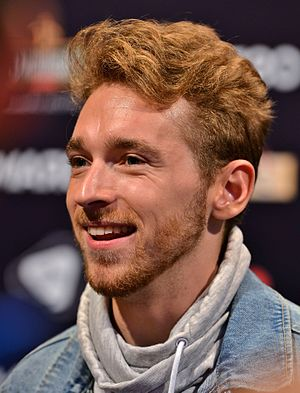 Austria in the Eurovision Song Contest 2017 - Nathan Trent during a press meet and greet
