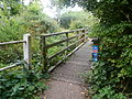 National Cycle Route 23 footbridge at Blackwater.JPG