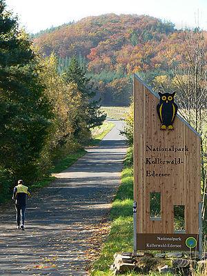 Kellerwald-Edersee National Park - National park sign near Hemfurth-Edersee