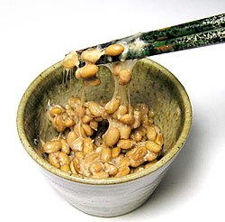 Nattō, a Japanese fermented soybean food