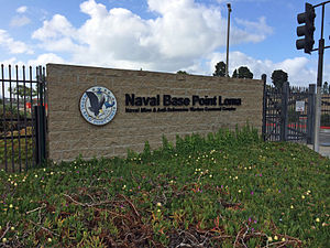 Naval Base Point Loma - Outside entrance of Naval Base Point Loma