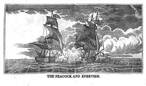 Capture of HMS Epervier - USS Peacock and HMS Epervier battle.