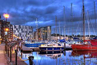 Ipswich Waterfront - The Ipswich Waterfront pictured from the west