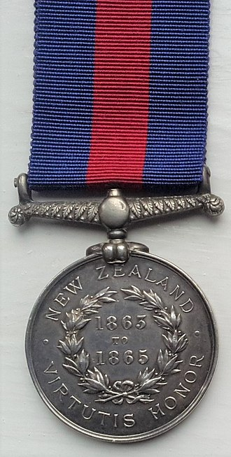 New Zealand Medal - Image: New Zeland Medal with Reverse dates 1865 1865