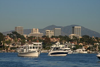 Newport Center Skyline and Santa Ana Mountains.jpg