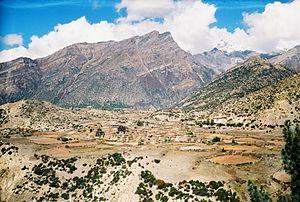 Nyawal - Ngawal and Annapurna III on the background