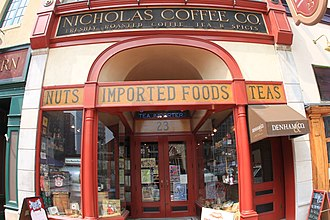 Market Square (Pittsburgh) - Nicholas Coffee Co. located in Market Square