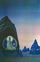 Nicholas Roerich. Agni Yoga. Diptych. Left part
