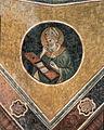 Nicolò Semitecolo St Augustinus, fresco. 1370. Chapel of the Holy Face, Santa Maria dei Servi, Venice..jpg