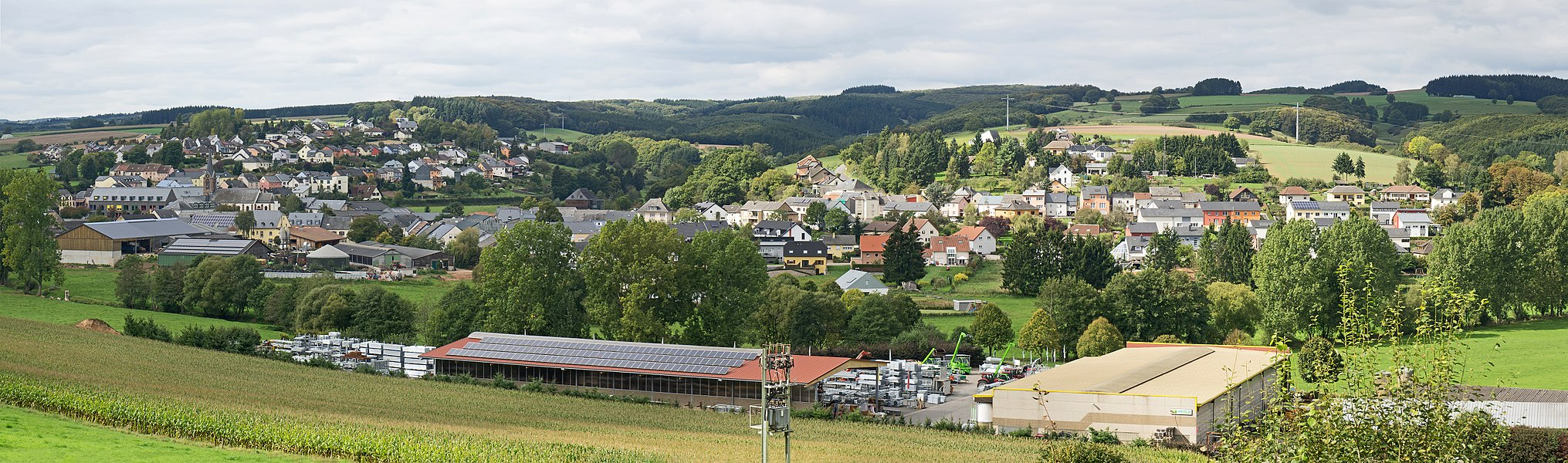 Niederfeulen as seen from the  N15