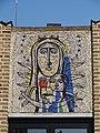 Nijmegen - Mozaïek 'Moeder Gods' van Jan van Eijk op de gevel van de Titus Brandsmakapel.jpg