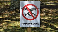 "Sign that states, ""No Drone Zone"""