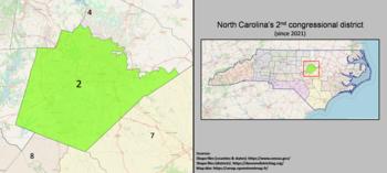 2e district du Congrès de Caroline du Nord (depuis 2021).png