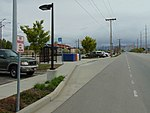 Northeast bound bus stop adjacent to 4800 W Old Bingham Hwy station, Apr 16.jpg