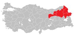 Location of Northeast Anatolia Region