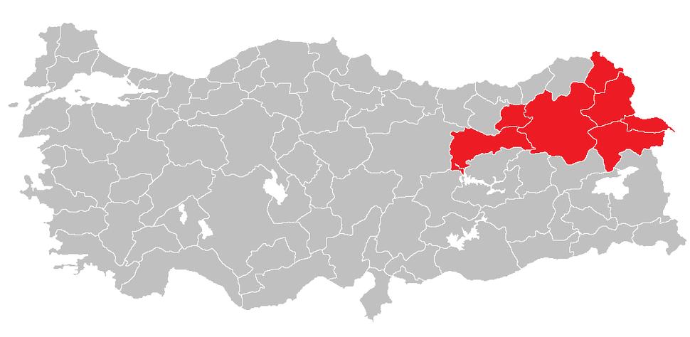 Location of Northeast Anatolia Region