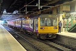Northern Rail Class 142, 142062, platform 4, Manchester Victoria railway station (geograph 4500560).jpg