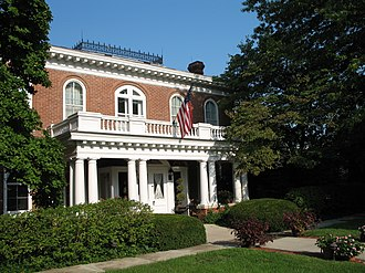 Northwest Missouri State University - The President's home is the Thomas Gaunt House, which is on the National Register of Historic Places.